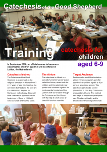 Flyer training catechesis level II English Sep 2018